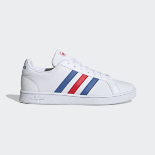 Zapatillas Grand Court Base Cloud White / Blue / Active Red EE7901