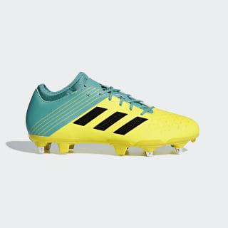 Malice Elite Soft Ground Boots Shock Yellow / Core Black / Hi-Res Aqua AC7742