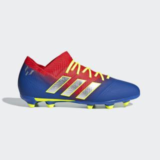 Bota de fútbol Nemeziz Messi 18.1 césped natural seco Active Red / Silver Met. / Football Blue CM8624