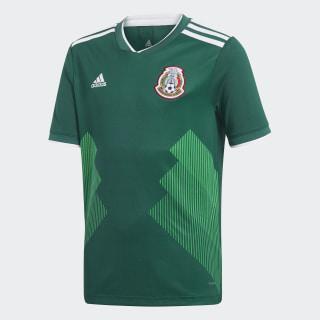 Jersey Oficial Selección de México Local Niño 2018 COLLEGIATE GREEN/WHITE BQ4696