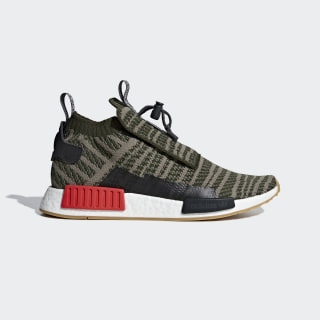NMD_TS1 Primeknit Shoes Night Cargo / Base Green / Steel B37633