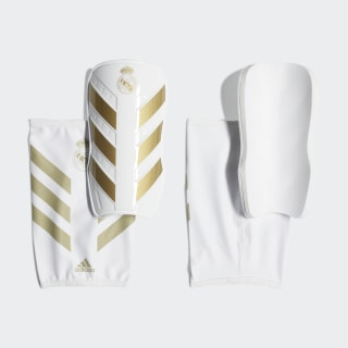 Real Madrid X Pro Shin Guards White / Matte Gold DY0082