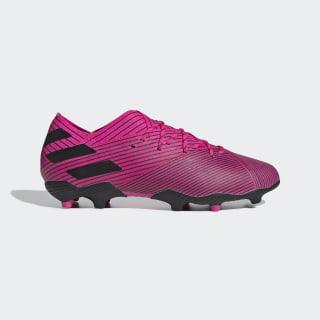 Bota de fútbol Nemeziz 19.1 césped natural seco Shock Pink / Core Black / Shock Pink F99956