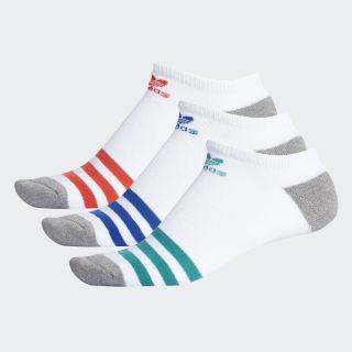 Roller No-Show Socks 3 Pairs White CJ3878
