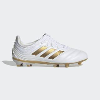 Bota de fútbol Copa 19.1 césped natural seco Cloud White / Gold Met. / Football Blue F35455