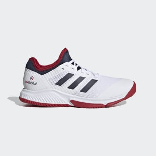 Court Team Bounce Shoes Cloud White / Collegiate Navy / Power Red EF2639