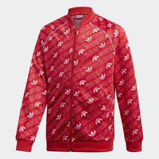 Trefoil Monogram SST Originals Jacke Collegiate Red / White DI0263