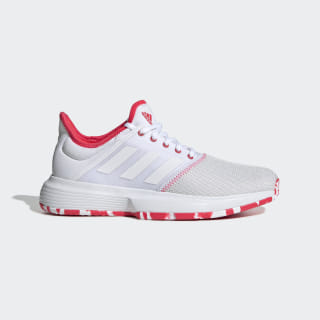 GameCourt Multicourt Shoes Cloud White / Cloud White / Shock Red F36720