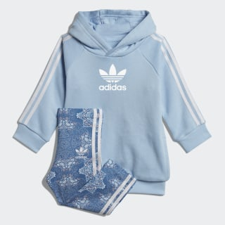 Culture Clash Hoodie-Set Clear Sky / White DV2326