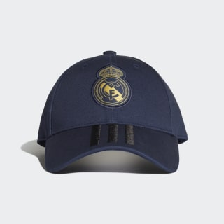 Šiltovka Real Madrid 3-Stripes Night Indigo / Black / Matte Gold DY7721