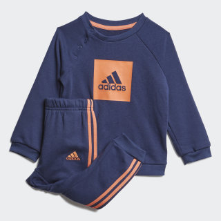 3-Stripes Logo Jogger Set Tech Indigo / Semi Coral FR5307
