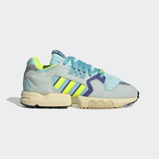 ZX Torsion Shoes Clear Aqua / Solar Yellow / Purple EF4343