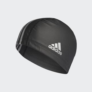 coated fabric swim cap Black / Silver Metallic F49116