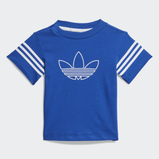 Camiseta Outline Team Royal Blue / White / Silver Metallic FM4442