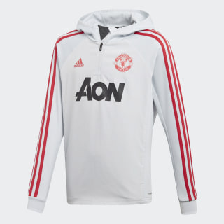 Manchester United Warm Top Clear Grey / Blaze Red DX6201