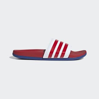 Pantofle Adilette Cloudfoam Plus Stripes Cloud White / Scarlet / Team Royal Blue EG1853