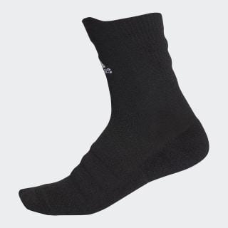 Alphaskin Lightweight Cushioning Crew Socken Black / White CV7428