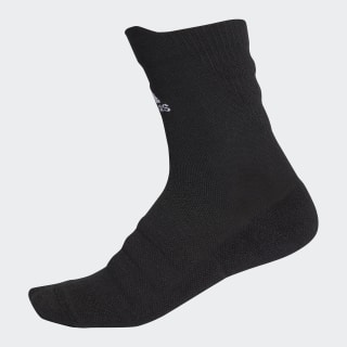Alphaskin Lightweight Cushioning Crew Socks Black / White CV7428