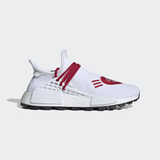 Pharrell Williams Hu NMD Human Made Shoes Cloud White / Scarlet / Core Black EF7223