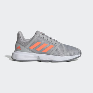 CourtJam Bounce Shoes Grey Two / Signal Coral / Grey Three EG1138