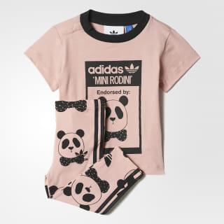 Комплект: футболка и брюки Mini Rodini Graphic pink spirit s11 / black BK5509