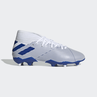 Bota de fútbol Nemeziz 19.3 césped natural seco Cloud White / Team Royal Blue / Team Royal Blue EG7245