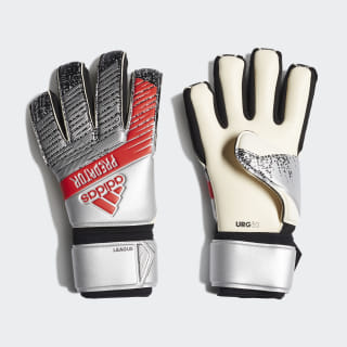 Вратарские перчатки Predator League silver met. / black DY2604