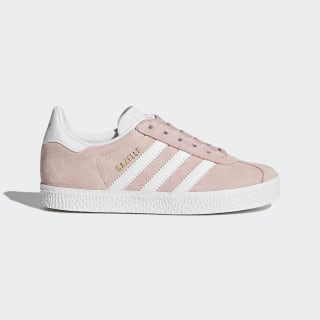 Chaussure Gazelle Icey Pink / Cloud White / Gold Metallic BY9548