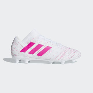 Nemeziz 18.2 FG Fußballschuh Ftwr White / Shock Pink / Shock Pink D97978