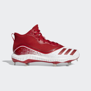 Icon V Bounce Mid Cleats Cloud White / Power Red / Power Red G28274