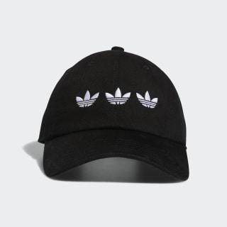 Triple Trefoil Strap-Back Relaxed Hat Black CL5219