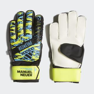 Guantes portero Predator Manuel Neuer Top Training Fingersave Solar Yellow / Bright Cyan / Black DY2625