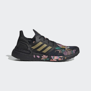 Zapatilla Ultraboost 20 Core Black / Gold Metallic / Signal Coral FW4310