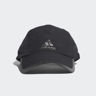Czapka do biegania Climalite Black / Black / Black Reflective CF9630