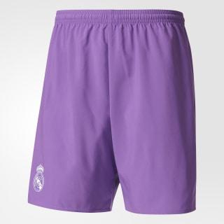 Pantaloneta de visitante del Real Madrid RAY PURPLE/CRYSTAL WHITE S94994