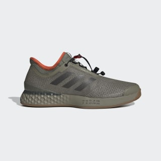 Кроссовки для тенниса Adizero Ubersonic 3 Citified raw khaki / night met. / true orange CG7073