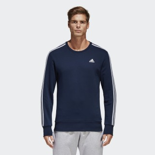 Essentials 3-Stripes Sweatshirt Collegiate Navy/White B45731