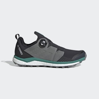 Terrex Agravic Boa Shoes Carbon / Grey Three / Active Green BC0372