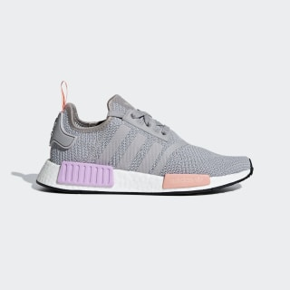 86397595113 NMD R1 Shoes Light Granite   Light Granite   Clear Orange B37647