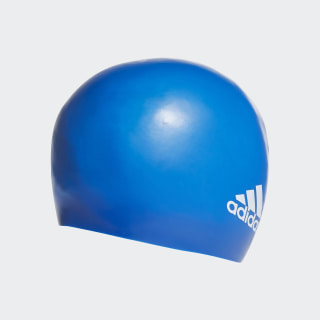 Silicone Logo Swim Cap Team Royal Blue / White FJ4967