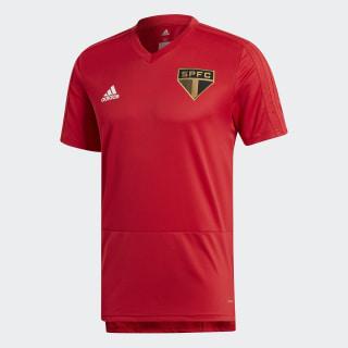 CAMISA TREINO SÃO PAULO - Vermelho adidas  96e0e5673f1d0