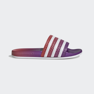 Adilette Slides Active Purple / Cloud White / Active Red EE6188