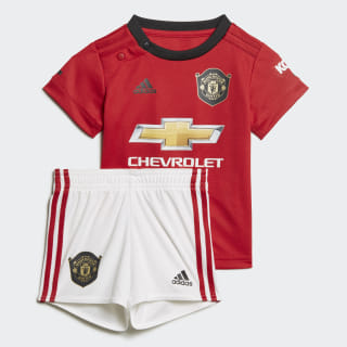 Kit Principal do Manchester United para Bebé Real Red DX8949