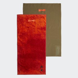 Полотенца для спортзала adidas x UNDEFEATED orange / olive cargo DY5866