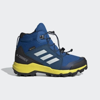 Terrex Mid GORE-TEX Hiking Shoes Blue Beauty / Grey One / Shock Yellow BC0596