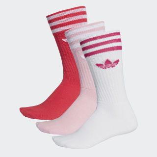 Calze (3 paia) True Pink / White DY0383