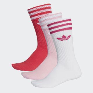 Chaussettes mi-mollet (3 paires) True Pink / White DY0383