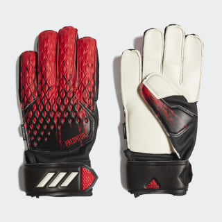 Guantes Predator 20 Match Fingersave Black / Active Red FH7289