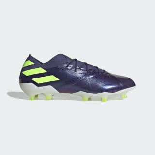 Botines Nemeziz Messi 19.1 Terreno Firme Tech Indigo / Signal Green / Glory Purple EG7332