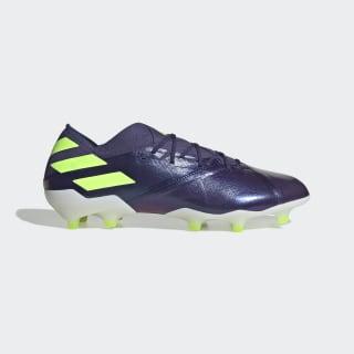 Kopačky Nemeziz Messi 19.1 Firm Ground Tech Indigo / Signal Green / Glory Purple EG7332